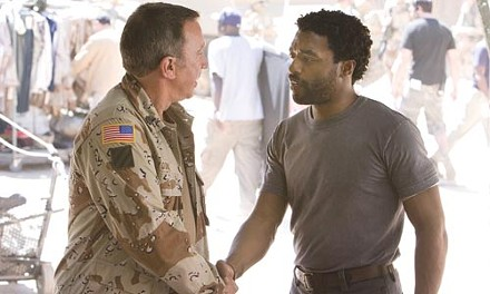 Men of the mat: Tim Allen and Chiwetel Ejiofor