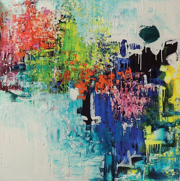 """Mia Tarducci Henry gestural abstraction, """"Surfaces"""" at Pittsburgh Center for the Arts"""