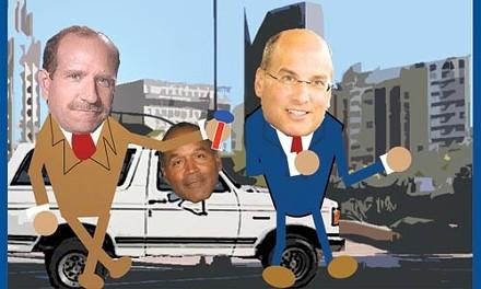 Michael Diven's campaign video mocks Jim Motznik for fleeing TV news cameras in 2004.