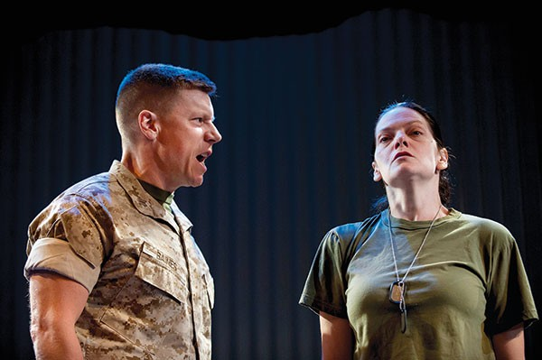 Michael Fuller and Marie Elena O'Brien in Soldier's Heart, at The REP.