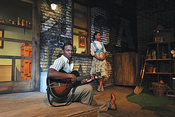 Mitchell Edward and Johari Mackey in Seven Guitars