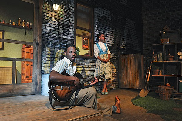 Mitchell Edward and Johari Mackey in Seven Guitars
