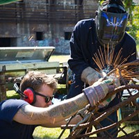 Industrial Arts Co-op's latest venture is the Mobile Sculpture Workshop for youths