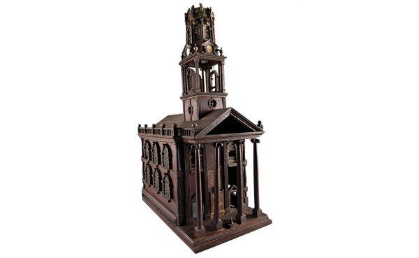 Model of a church, possibly New York (c. 1800s); artist unknown - IMAGE COURTESY OF CARNEGIE MUSEUM OF ART
