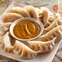 Himalayas Momo dumplings with Himalayan sauce Photo by Heather Mull
