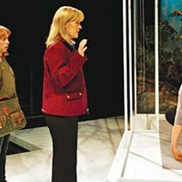 Mothers, lovers, apes: Theo Allyn, Kelly McAndrew and Laurie Klatscher in City Theatre's <i>Precious Little</i>