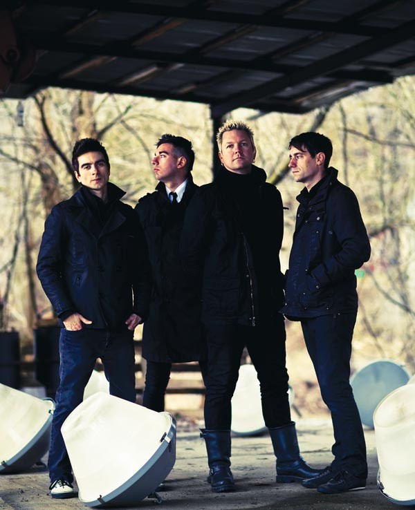 Musicians by occupation: Anti-Flag (from left: Justin Sane, Chris #2, Pat Thetic, Chris Head)