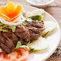Red Orchid Nam Took Marinated Grilled Beef Photo by Heather Mull