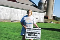 Natural gas operations near Maggie Henry's Lawrence County farm have been the site of protests by the Shadbush Environmental Justice Collective