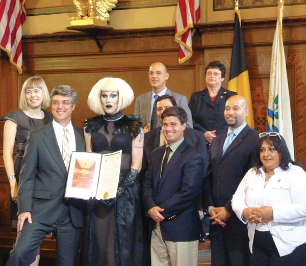 Needles accepting her city proclamation - PHOTO BY LAUREN DALEY