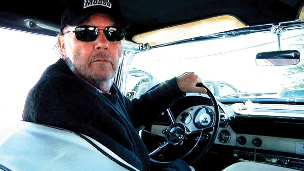 Neil Young, in the driver's seat