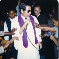 Never trust a preacher with shaded eyes: Rev. Jim Jones