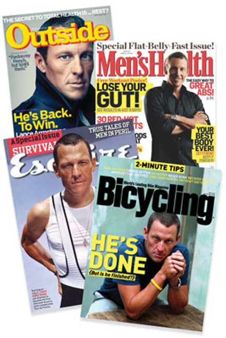News cycle: Stories about Lance Armstrong's recovery ignored the fast-rising incidence of testicular cancer.