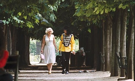 Not quite themselves: Marilyn Monroe (Samantha Morton) and Michael Jackson (Diego Luna) share a moment.
