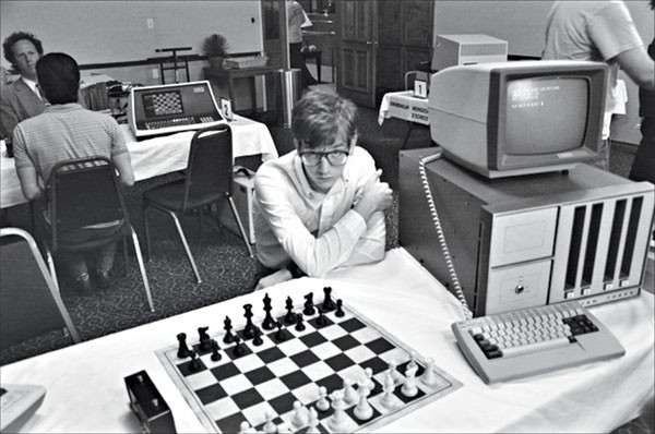 Of men and machines: Patrick Riester portrays a computer-chess whiz.