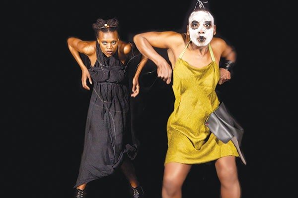 Okwui Okpokwasili and Nora Chipaumire in Miriam