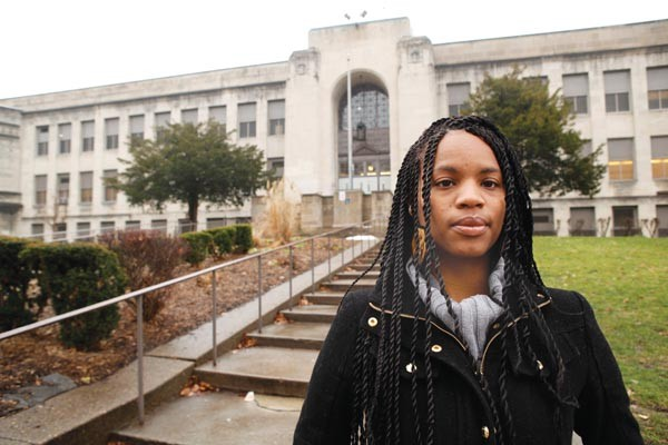 """Oliver grad Shanon Williams worries that merging Perry and Oliver high schools could create """"a hostile environment."""""""