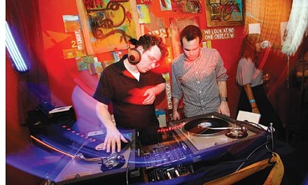 On deck at the Shadow Lounge: DJs Justin Hopper and Gordy Greenawalt, of Vipers Soul Club - HEATHER MULL