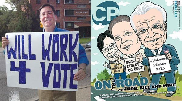 On Election Day, Peduto toted a sign inspired by a City Paper cover dating back to 2005 — the year of his first mayoral run.