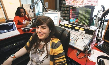 On the air: Sara Pecora hosts the Local Show at WPTS 92.1 FM