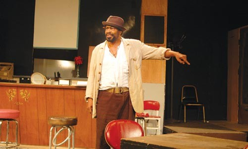 On track: Anthony Chisholm in Two Trains Running, at Pittsburgh Playwrights Theatre Co. Photo courtesy of Mark Clayton Southers.