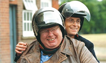 On yer bike: Richard Griffiths and Stephen Campbell Moore