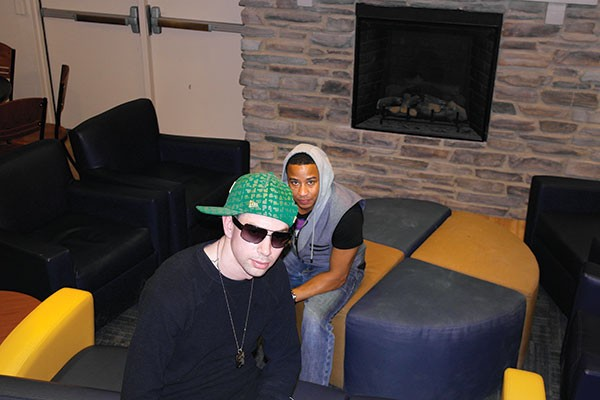 One last shot: Timmy Bankz, left, with DJ ChaChee