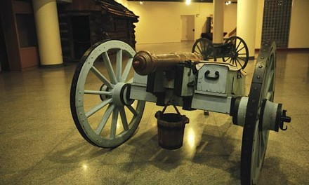One of several cannons on display at the museum. - HEATHER MULL
