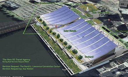 "One ""R5"" visitor requested a David L. Lawrence Convention Center with solar panels and more green roofing. - PHOTO ILLUSTRATION COURTESY OF CLAIRE HOCH."
