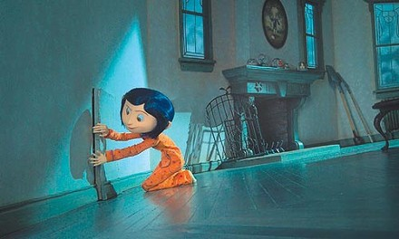 Ooooh, a mysterious little door: Coraline can't resist.