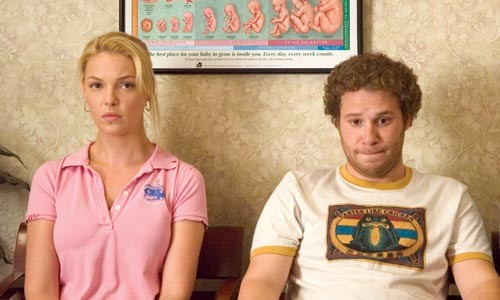 Oops, we're parents: Katherine Heigl and Seth Rogen