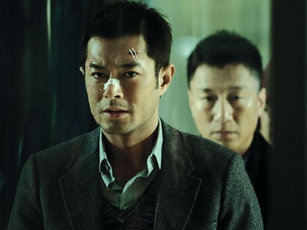 Opposing soldiers: drug-maker Choi (Louis Koo), left, and policeman Zhang (Sun Honglei)