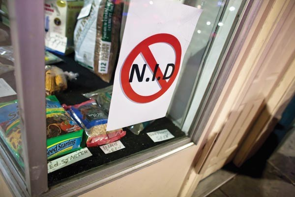 Opposition to the NID has been visible. - PHOTO BY RENEE ROSENSTEEL