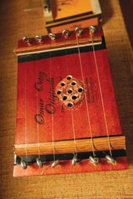 """Original"" indeed: A cigar-box zither Tamburo crafted for his annual ""Build Your Own Instrument"" show - HEATHER MULL"