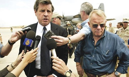 Our men in Baghdad: L. Paul Bremer (left) and Jay Garner, during the CPA days