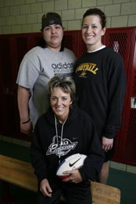 Owner/Coach Teresa Conn (front) with Priscilla Varelas (left) and Jennifer Gold - HEATHER MULL