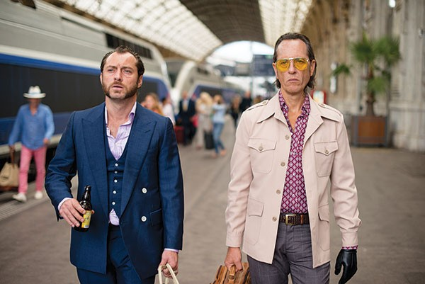 Partners in crime: Jude Law and Richard E. Grant