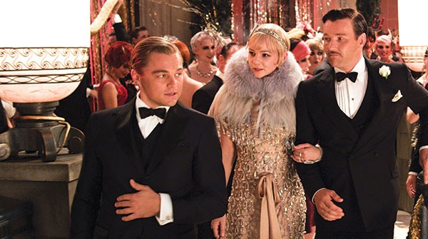 Party time: Jay Gatsby, Carey Mulligan and Joel Edgerton