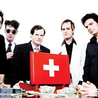 It's showtime for The Electric Six at Mr. Small's Theatre