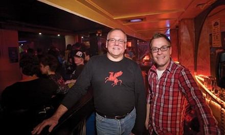 Pegasus manager Rodney Dececchis (right) and owner Scott Noxon say the Liberty Avenue gay bar's closing was a tough decision to make. - RENEE ROSENSTEEL
