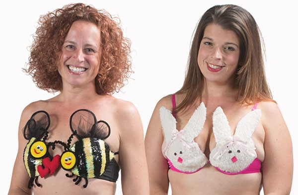 Penny See models Boo Bees and Bea Reisterer models Blouse Bunnies