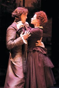 Personality crises: Kelly Boulware and Melinda Helfrich in City Theatre's Dr. Jekyll & Mr. Hyde. - SUELLEN FITZSIMMONS