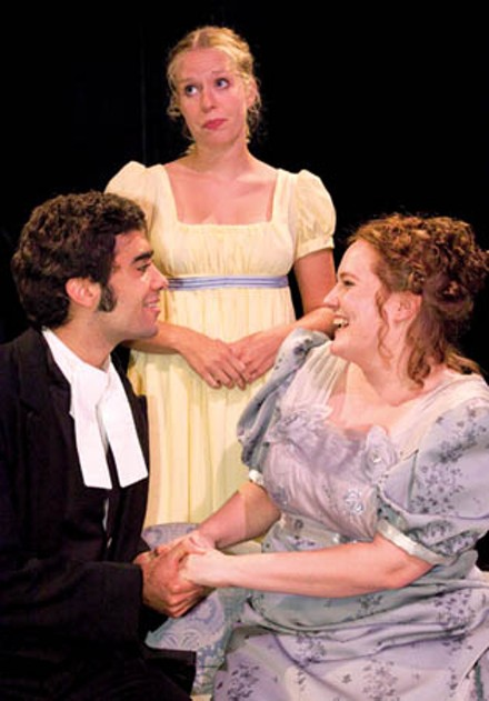 Peter Rosati and Danette Pemberton (in front) with Jenny Malarkey in Little Lake's Emma.
