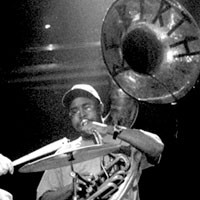 Philip Frazier of ReBirth Brass Band