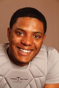 Pitt student actor Corey Talley plays Jonny Gammage in The Gammage Project - PHOTO BY HEATHER MULL