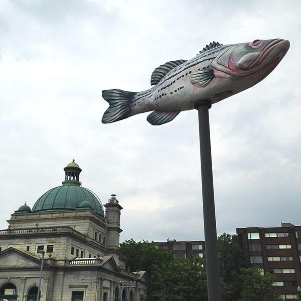 Pittsburgh Children's Museum Fish sculptures