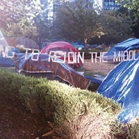 Pittsburghers occupying Mellon Green