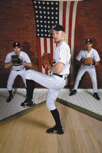 Playing hardball: Patrick Jordan (left), Tristan Farmer and Christian Felix star in Take Me Out.