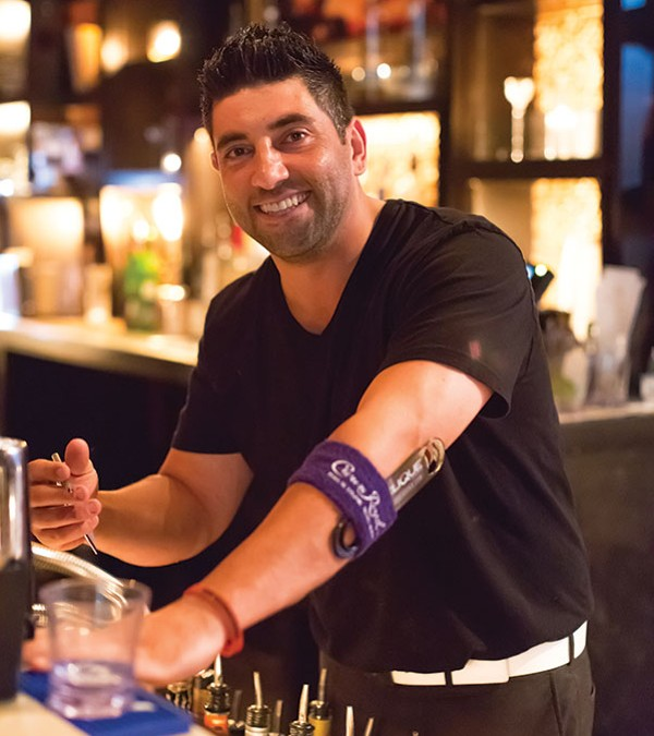 Pleased to serve you: Richie Walter, of Cavo