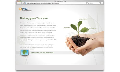 PNC's Web site has an entire section devoted to its green activities, but nothing about coal.